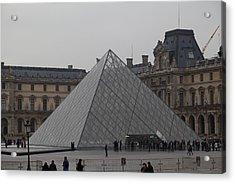 Louvre - Paris France - 01132 Acrylic Print by DC Photographer