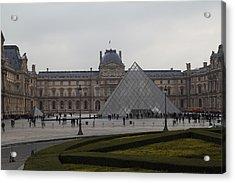 Louvre - Paris France - 01137 Acrylic Print by DC Photographer