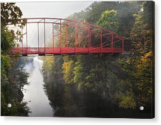 Lovers Leap Bridge Acrylic Print by Bill Wakeley