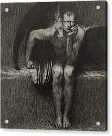 Lucifer Acrylic Print by Franz von Stuck