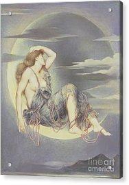 Luna Acrylic Print by Evelyn De Morgan