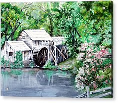 Mabry Mill Acrylic Print by Vickie Wright