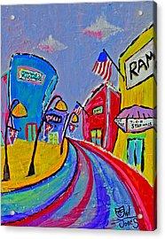 Main Street Usa Acrylic Print by Owl Jones