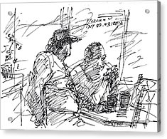 Man At The Bar Acrylic Print by Ylli Haruni