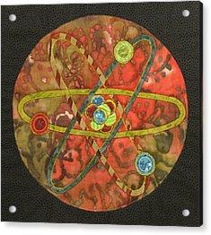Mandala No 1 Atom Acrylic Print by Lynda K Boardman