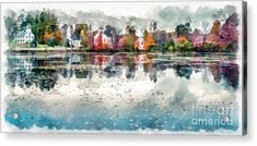 Marlow New Hampshire Acrylic Print by Edward Fielding