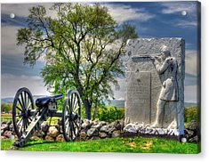 Massachusetts At Gettysburg - 1st Andrews Sharpshooters Unattached Mass. Vol. Infantry Hancock Ave Acrylic Print by Michael Mazaika