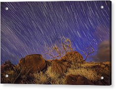 Maui Star Trails Acrylic Print by Hawaii  Fine Art Photography