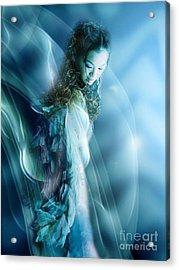 Mermaid Acrylic Print by VIAINA Visual Artist