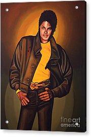 Michael Jackson Acrylic Print by Paul Meijering
