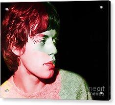 Mick Jagger Acrylic Print by Marvin Blaine