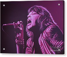 Mick Jagger Acrylic Print by Paul Meijering