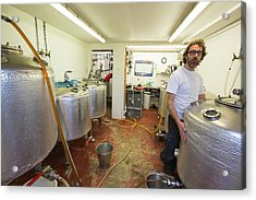 Micro Brewery Acrylic Print by Ashley Cooper
