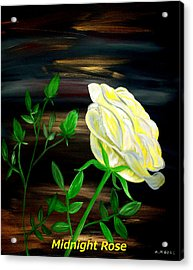 Midnight Rose Acrylic Print by Mark Moore