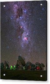 Milky Way Over Alma Telescopes Acrylic Print by Babak Tafreshi