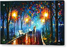 Misty Mood Acrylic Print by Leonid Afremov