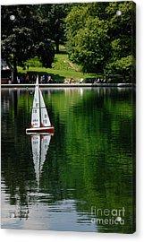 Model Boat Basin Central Park Acrylic Print by Amy Cicconi
