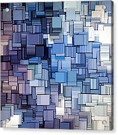 Modern Abstract Vi Acrylic Print by Lourry Legarde