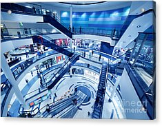 Modern Shopping Mall Interior Acrylic Print by Michal Bednarek