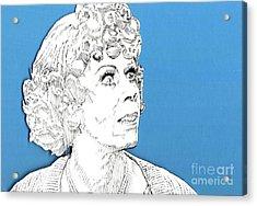 Momma On Blue Acrylic Print by Jason Tricktop Matthews