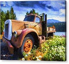 Moose Pass Limo Acrylic Print by David Wagner