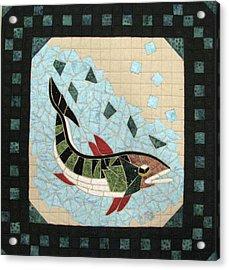 Mosaic Fish Acrylic Print by Lynda K Boardman