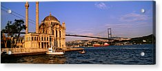 Mosque At The Waterfront Near A Bridge Acrylic Print by Panoramic Images