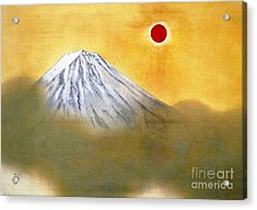 Mount Fuji Acrylic Print by Pg Reproductions