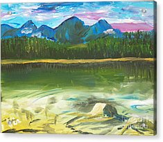 ptg. Mountain View Acrylic Print by Judy Via-Wolff