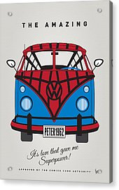 My Superhero-vw-t1-spiderman Acrylic Print by Chungkong Art