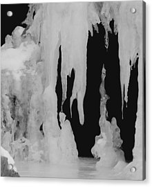 Natures Ice Work Acrylic Print by Thomas Samida