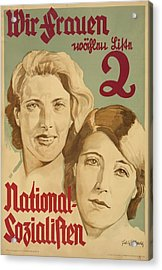 Nazi Party Poster For The German Acrylic Print by Everett