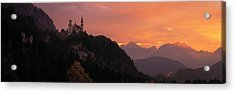 Neuschwanstein Palace Bavaria Germany Acrylic Print by Panoramic Images