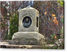 New York At Gettysburg - 140th Ny Volunteer Infantry Little Round Top Colonel Patrick O' Rorke Acrylic Print by Michael Mazaika