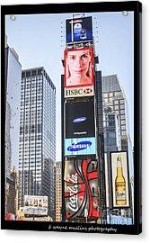 New York New York Acrylic Print by B Wayne Mullins