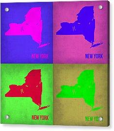 New York Pop Art Map 1 Acrylic Print by Naxart Studio