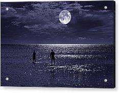 Night Boarders Acrylic Print by Laura Fasulo