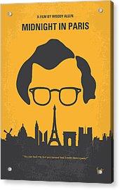 No312 My Manhattan Minimal Movie Poster Acrylic Print by Chungkong Art