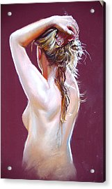 Nude Study Acrylic Print by Lynda Robinson