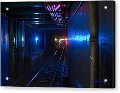 Nyc Underground Colors Acrylic Print by Coqle Aragrev