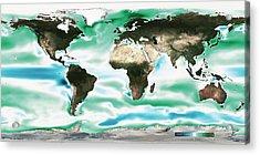 Ocean-atmosphere Co2 Exchange Acrylic Print by Noaa