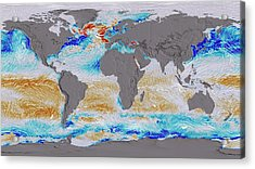 Ocean Surface Co2 And Winds Acrylic Print by Nasa's Scientific Visualization Studio