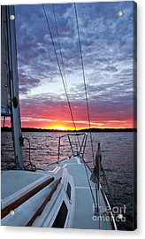 Off Into The Sunset Acrylic Print by Jill Hyland