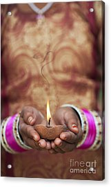 Offering The Light Acrylic Print by Tim Gainey
