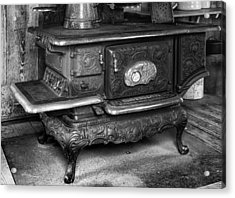 Old Clarion Wood Burning Stove Acrylic Print by Lynn Palmer