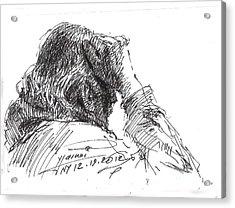 Old Man Acrylic Print by Ylli Haruni