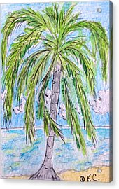On The Beach Acrylic Print by Kathy Marrs Chandler