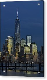 One World Trade Center At Twilight Acrylic Print by Susan Candelario