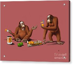 Orange Man Acrylic Print by Rob Snow