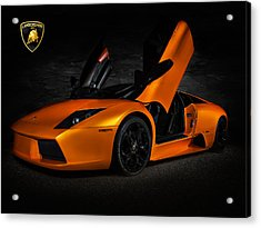 Orange Murcielago Acrylic Print by Douglas Pittman